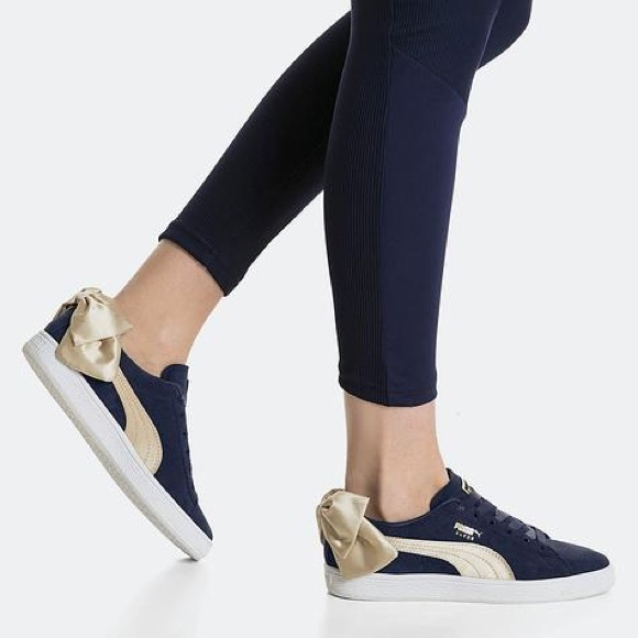 Puma Suede Bow Varsity Sneakers for Women Blue